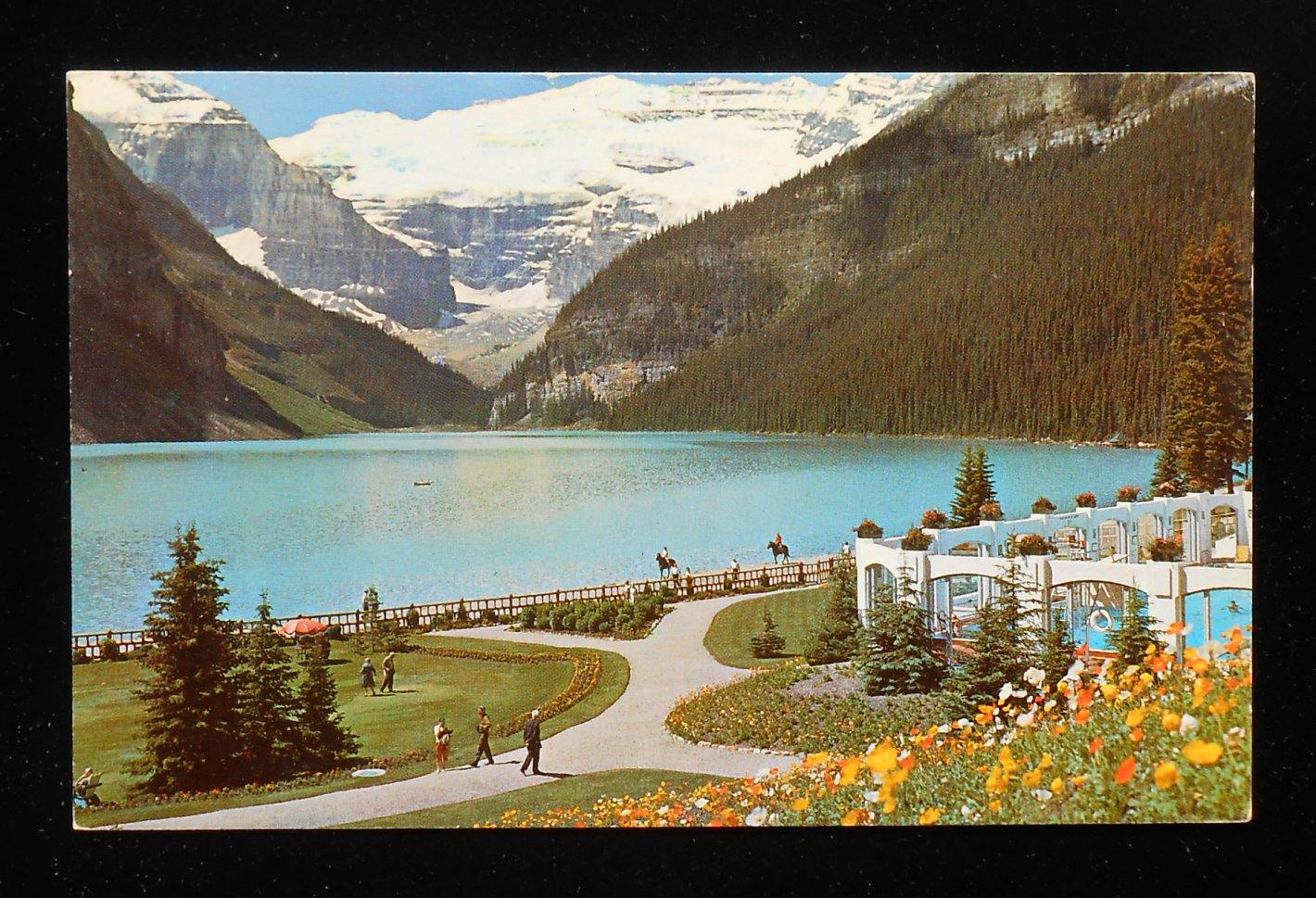 1966 Lake Louise Victoria Glacier Swimming Pool Grounds Chateau Lake Louise Ab C Ebay