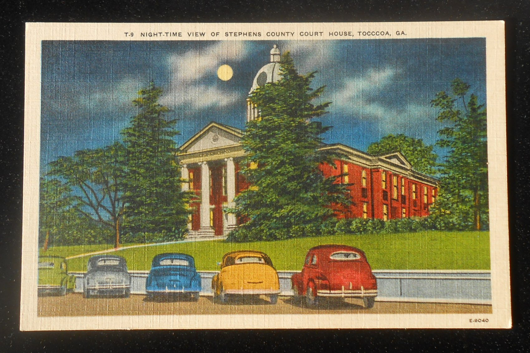 Tocccoa,Georgia Night Time View of Stephens County Court House