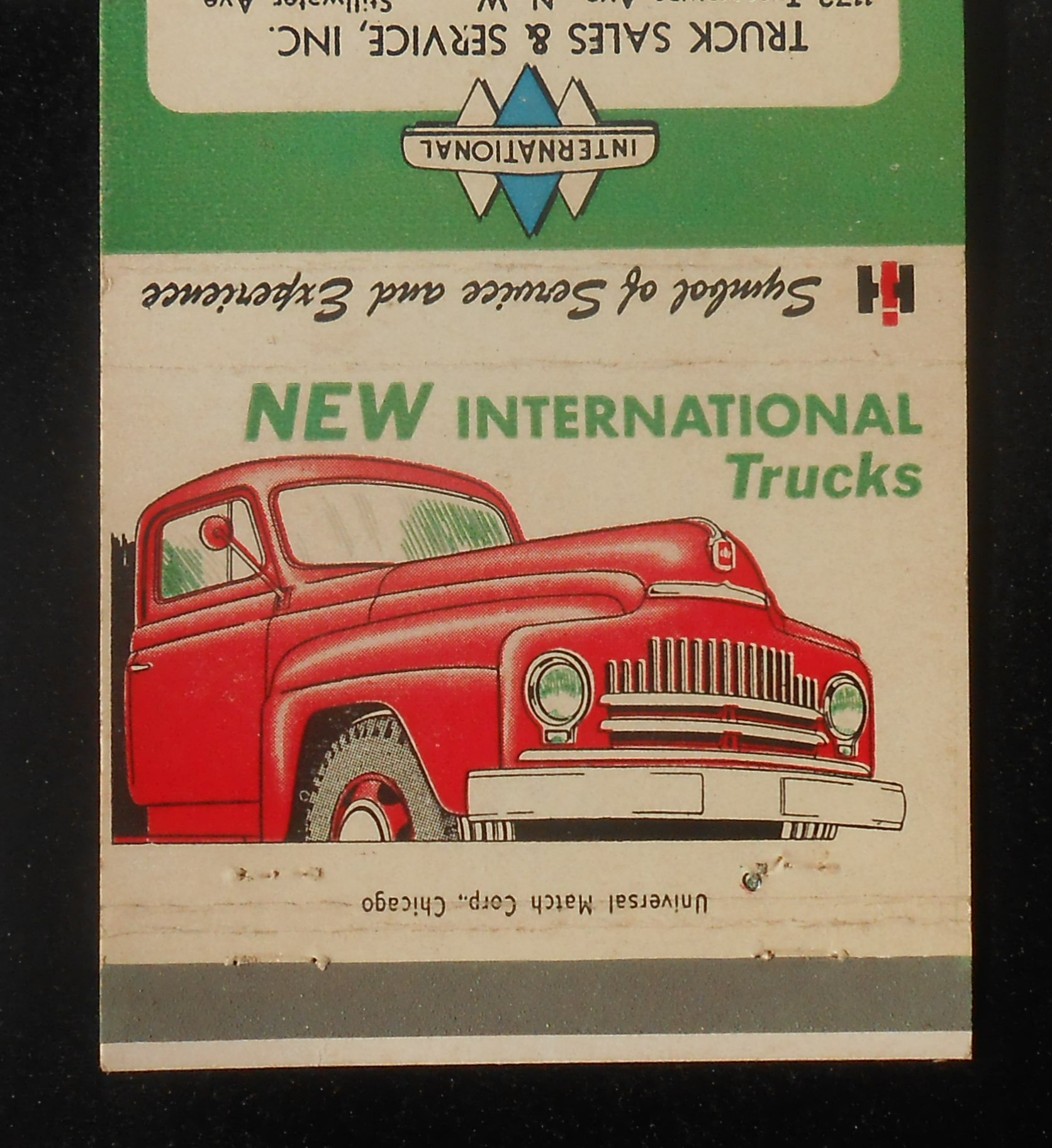 INTERNATIONAL HARVESTER Advertising Matchbox Holder NOS