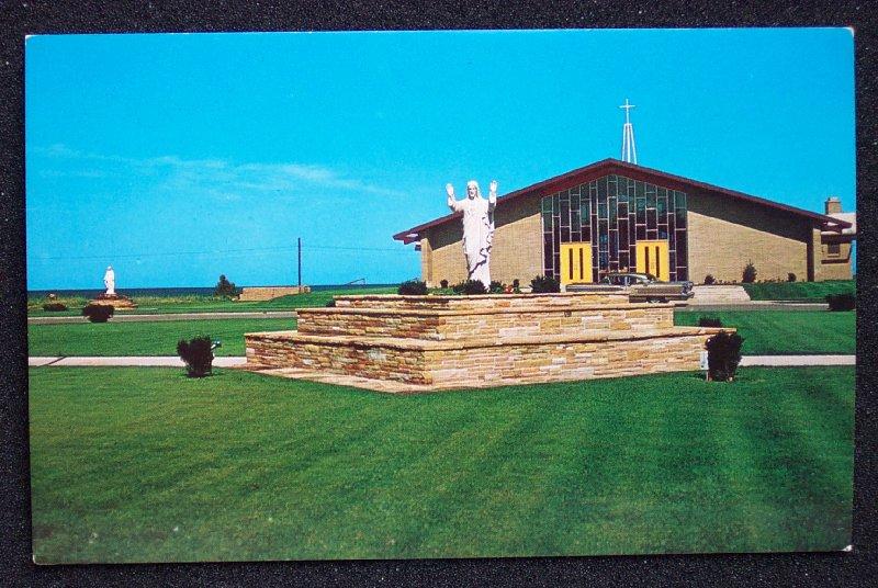 NE Oscoda MI Sacred Heart Shrines and Building founded in